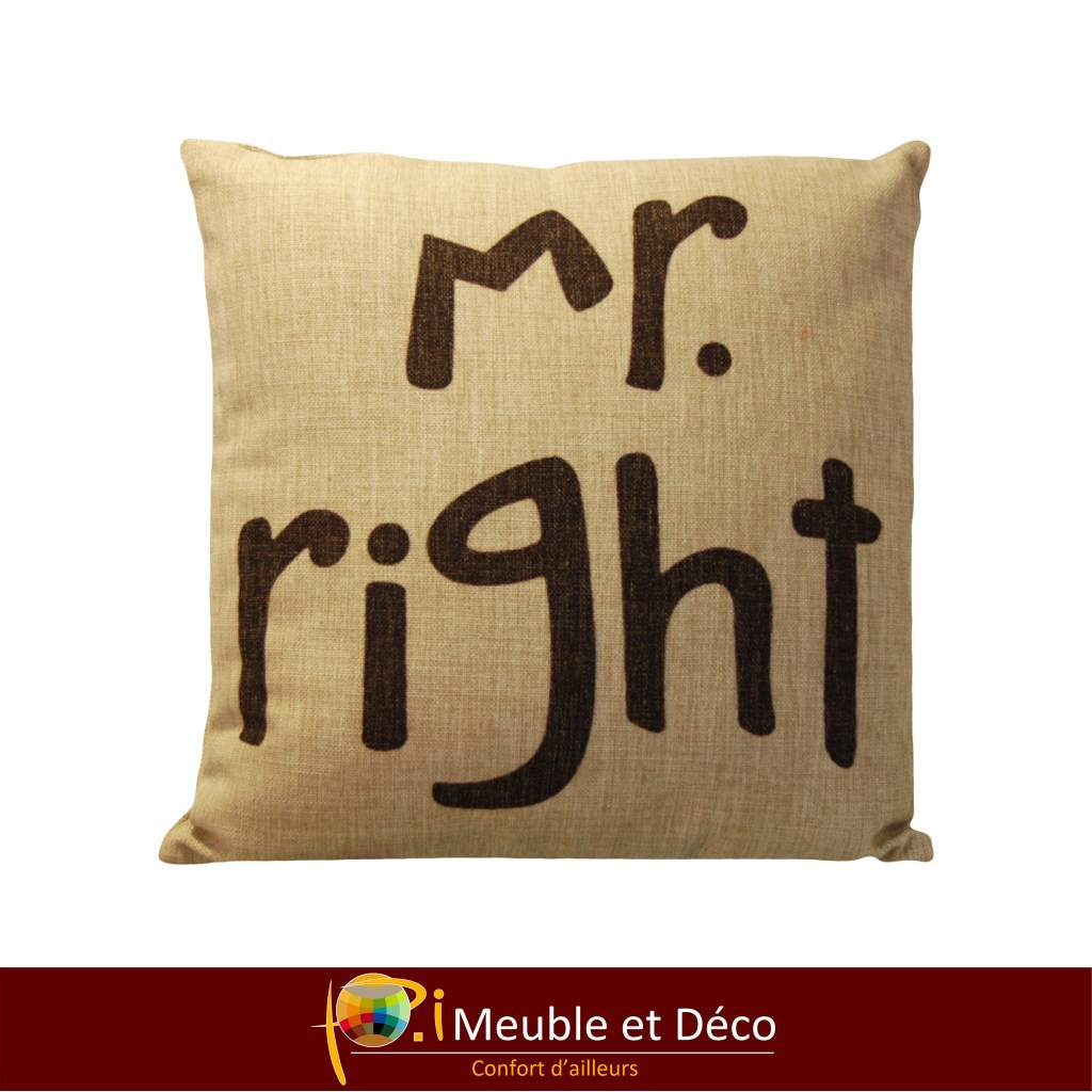 coussin Mr right
