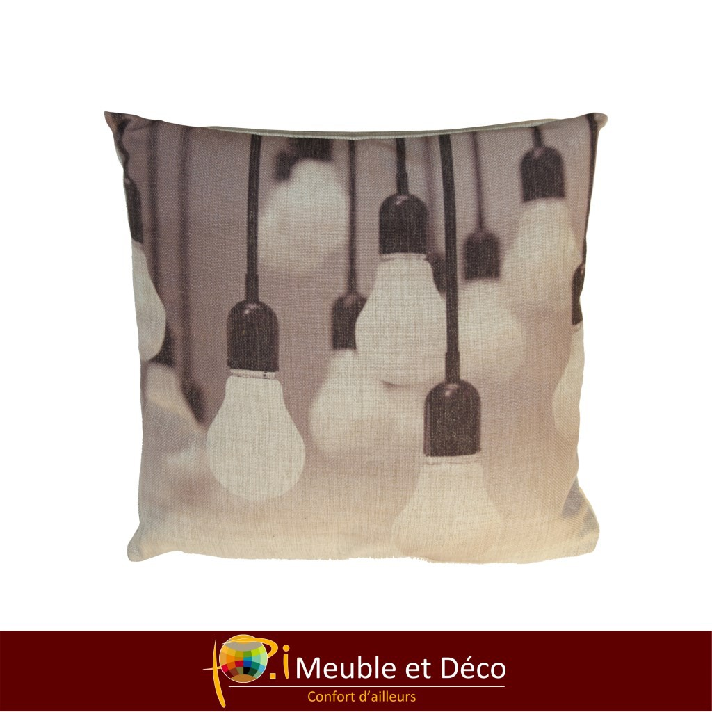coussin light bulb
