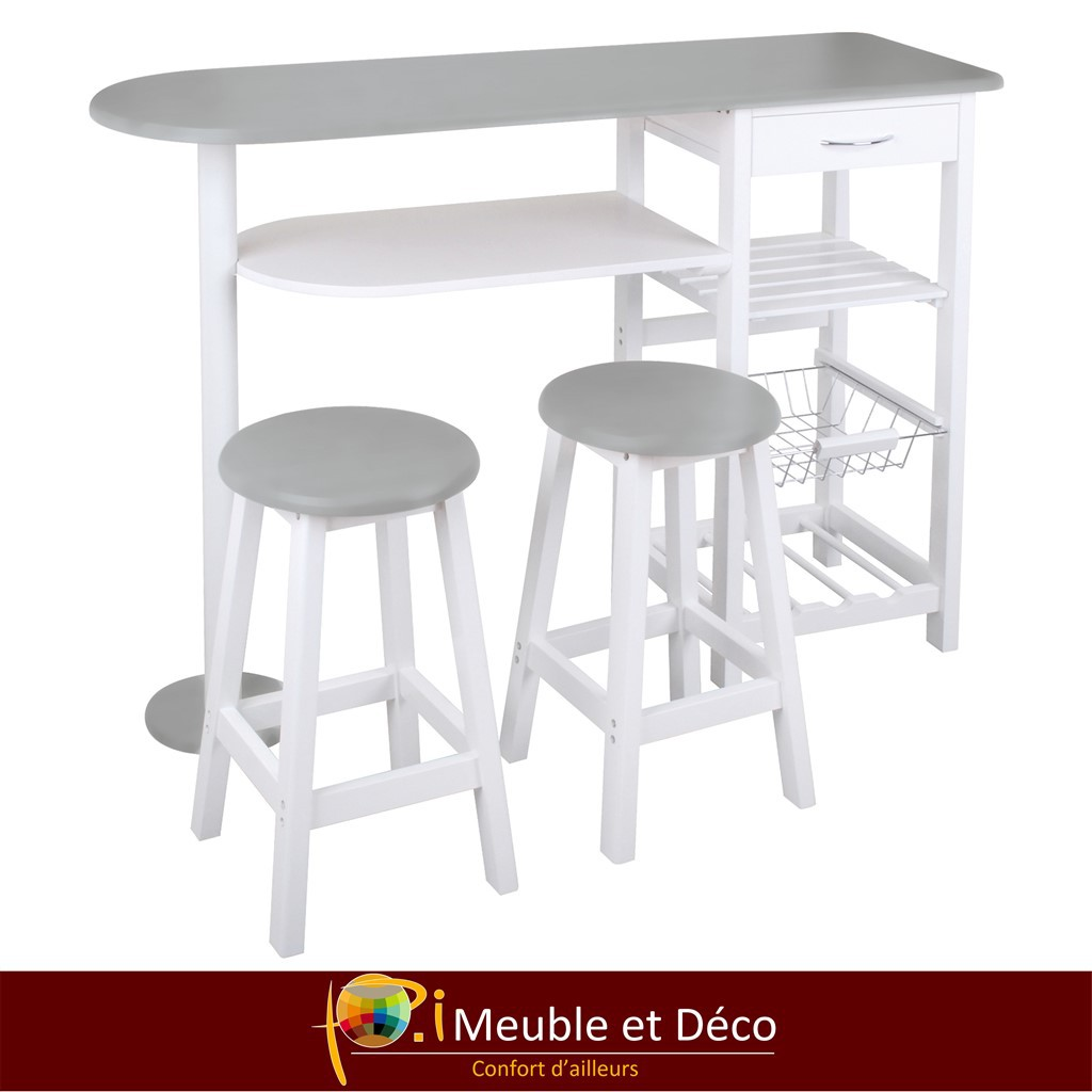 Table de cuisine + 2  tabourets