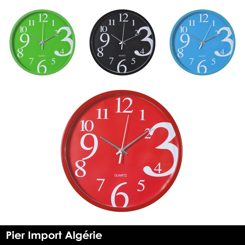 Horloge Design 4 couleurs