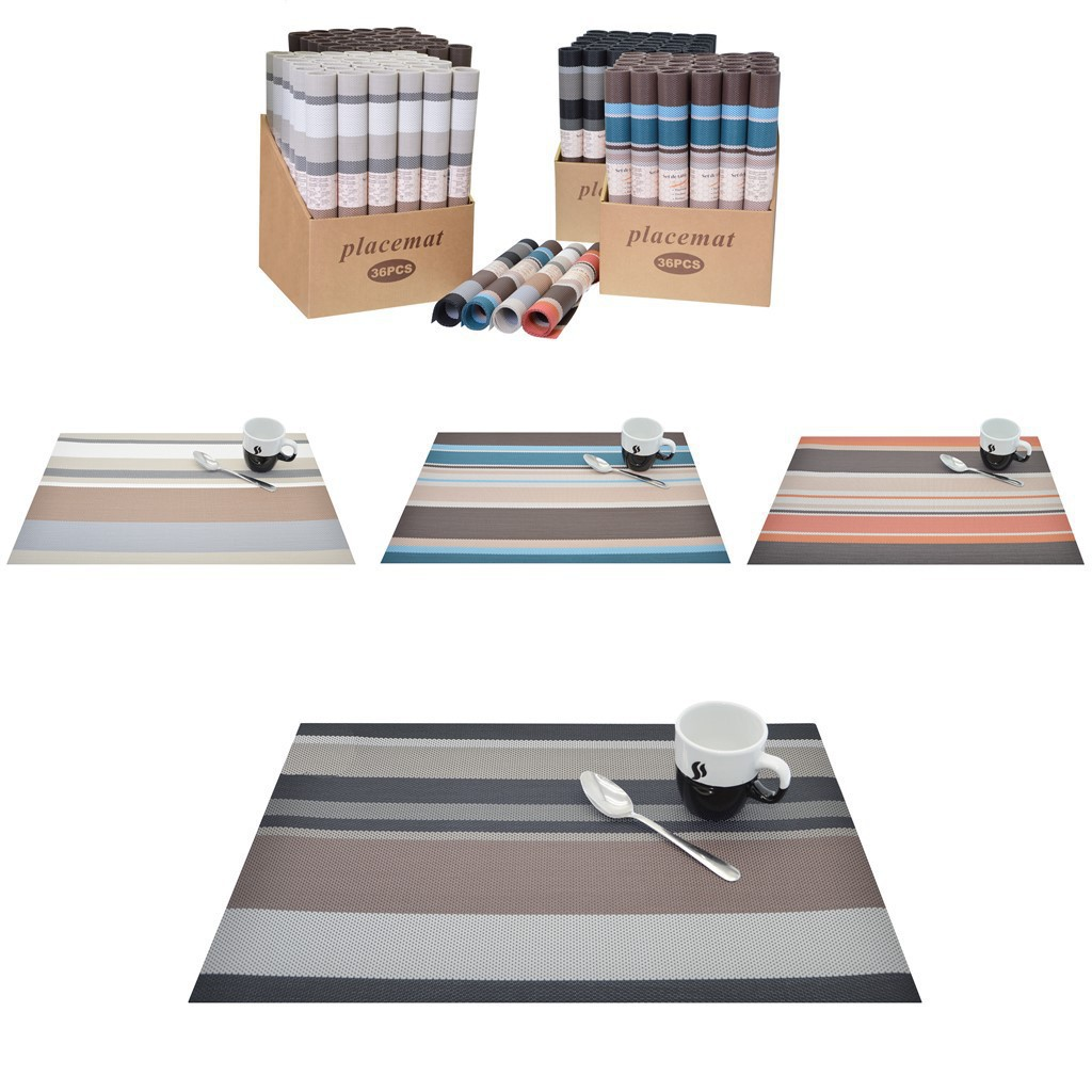 Set de table PVC 45x30cm Couleurs assortis