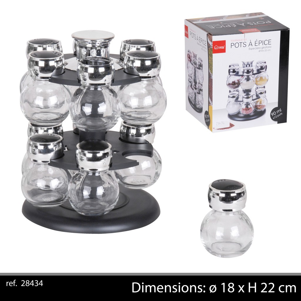 pot epice 90 ml *12 + support 18*18*22.6