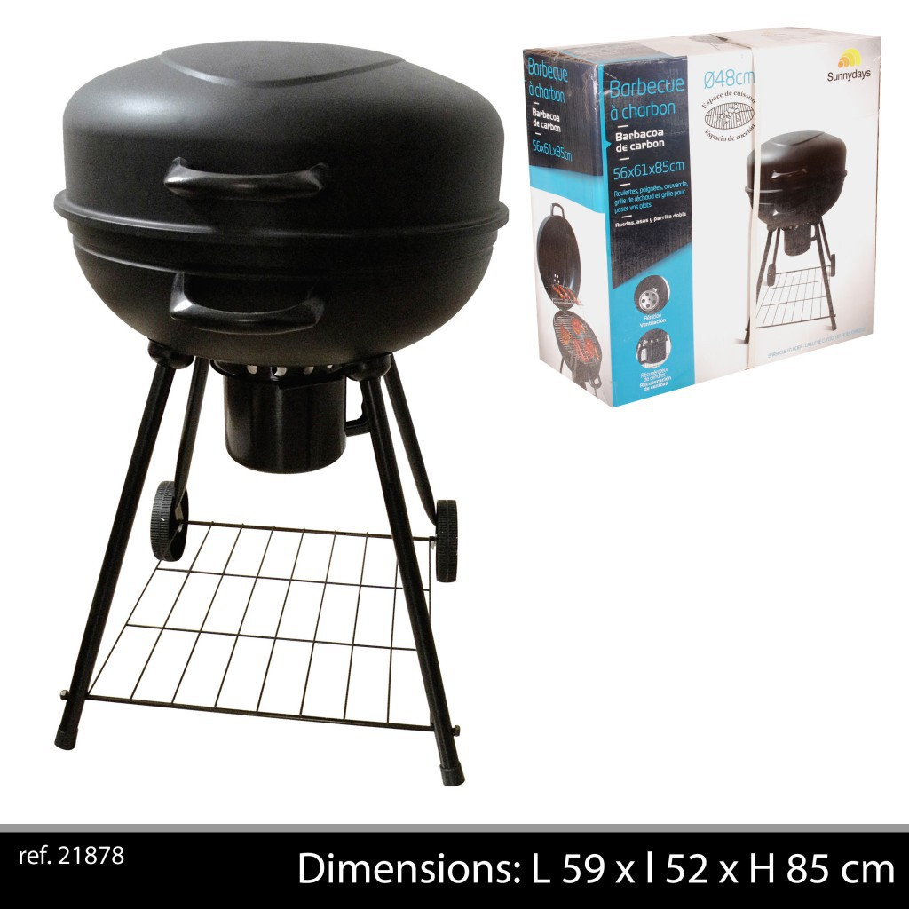 barbecue rond couvercle 59*52*85cm